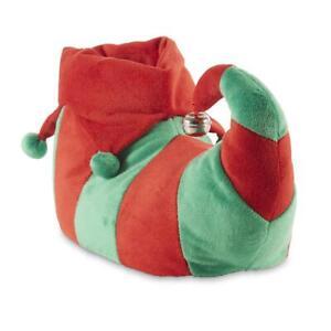 Joe Boxer Women's Buddy Christmas Holiday Elf Slippers Red/Green