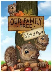 Our Family Tree is Full of Nuts Metal Novelty Tin Sign Home Decor Squirrels