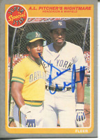 Dave Winfield Autographed 1985 Fleer Card