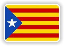 """Autocollant Drapeau Catalogne Catalogne 2,8 x4 """"pare-chocs Autocollant tablette porte vélo camion Livre"""