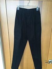Ladies Black Casual Pants - Austin Clothing Co. Size 2 Med - 100% Cotton
