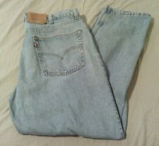 Levis 550 Jeans Mens 42 x 30 Relaxed Fit Tapered Leg Light Wash Made in Usa Vtg