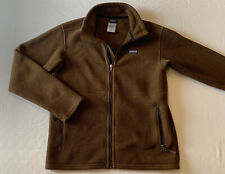 Boys Patagonia Brown Full Zip Fleece Pullover Jacket Sz XL 14