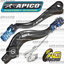Apico Black Blue Rear Brake & Gear Pedal Lever For Husaberg FE 570 2012 MotoX