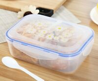 Portable Lunch Box Food Storage Containers Plastic Bento Box Microware Oven Tool