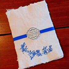 Handmade Paper Sheets - 10 sheets - White/Blue (805) Free Shipping