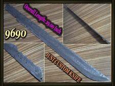 "29"" Custom made Rare Damascus hunting blank blade knife making suppliers 9690"