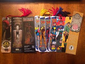 Lot Of 16 Comic Book & Sci-Fi Bookmarks 1990s