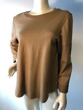 Vince $385 Soft Camel beige Relaxed Fit Tunic Sweater M Bin-Q
