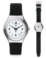 Swatch linea Out reloj Ygs475 Análogo silicona negro