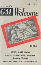 1956 Oldsmobile Buick Pontiac South Gate Calif Factory Assembly Brochure wr4475