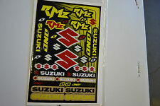 ONE INDUSTRIES TEAM  SUZUKI RMZ  UNIVERSAL GRAPHICS STICKERS 12X18 SHEET