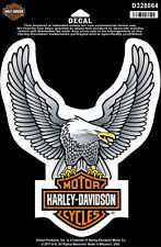 Harley Davidson Aufkleber Modell Eagle Upwing silver ca. 16,5 cm Breit x 20,5 cm