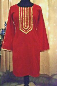 women pakistani winter marina kurta indian kurti tunic dress Xs to XL
