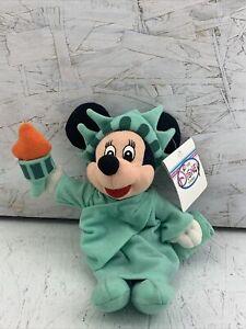 The Disney Store Bean Bag Plush LIBERTY MINNIE Mouse NWT