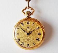 Reloj de Bolsillo para Mujer Mecánico CATOREX Incabloc. 30mm Oro Cuadrante. 18K Placa de Oro
