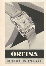 vintage 1958 small print ad ORFINA Swiss Suisse watch movement MID CENTURY ART