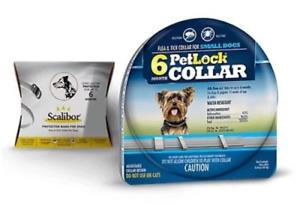 PetLock Flea & Tick collar Small Dogs 6 Months Protection Compares to Scalibor