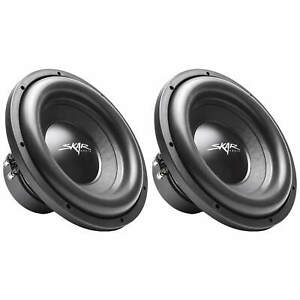 "(2) NEW SKAR AUDIO SDR-12 D4 12"" 1200W MAX POWER DUAL 4 OHM SUBWOOFERS - PAIR"
