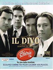 PUBLICITE ADVERTISING 015  2009  CHERIE FM radio   IL DIVO  au ZENITH DE PARIS