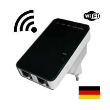 300 Mbit WLAN Repeater für zb fritzbox universal Wifi  + Router Funktion WPS LAN