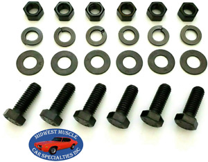 64-72 GM GMC Engine Motor Mount Pad To Frame Chassis Hardware Bolts 24pcs UV