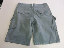 056 MENS EX-COND INDUSTRIE CAMEROON REG FIT OLIVE CHECK CARGO SHORTS 30 $100.
