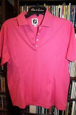 FootJoy Foot Joy Golf petunia pink Polo Shirt W logo on cuff Ladies sz M  (B107)
