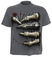 SPIRAL DIRECT DEATH GRIP T-Shirt/Biker/Tattoo/Skeletons/Metal/Ribcage/Skull/Top