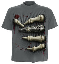 SPIRAL DIRECT MORT PRISE T-Shirt/Motard/Tatouage/Skeletons/Métal/Cage thoracique