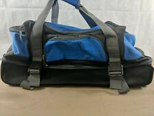 "Large 30"" Embark Blue Rolling Duffle Sports Bag Luggage Travel Suitcase"