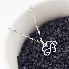 925 Sterling Silver Open Infinity Heart Necklace Eternal Love Infinity Pendant