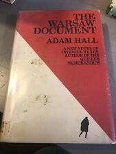 ADAM HALL ( ELLESTON TREVOR ) - THE WARSAW DOCUMENT  Rare First Edition 1971