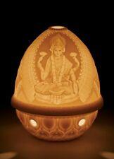Lladro Goddess Lakshmi White Translucent Porcelain 2 Pc Votive Candle Holder New