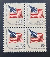US Stamps, Scott #1597 1978 15c Block of 4. XF M/NH. PO fresh