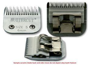 Geib Buttercut Ceramic Dog Clipper Blade Size 5 Skip Tooth, 6 mm