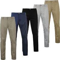 Mens Active Waist Chino Trousers Summer 100% Cotton Regular Straight Leg Pants