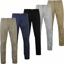 Mens Active Waist Chino Trousers Summer 100% Cotton Regular Straight Leg Pants