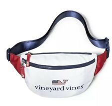 Vineyard Vines Fanny Pack NWT Flag Whale Red White Blue America