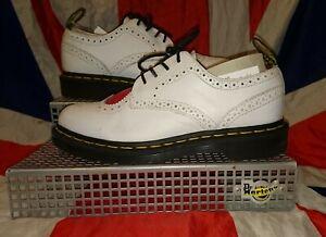Joyce Heart*White Red Brogue Dr Doc Martens Shoes*Wedding Kawaii Cute Kitsch*5