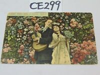 VINTAGE POSTCARD 1911 POSTED-STAMP-LOVE-CAN'T YOU SEE I LOVE YOU-MAN SINGING