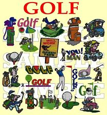 Golf, máquina de bordar diseños en un CD