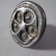 Pewter Ring Tin Brutalist Denmark Modernist Mid Century vintage Ring