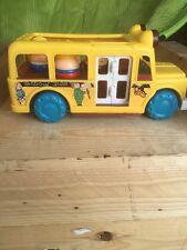 "1986 Vintage 10.5""Fisher-Price Playmates Playworld Toys School Bus"
