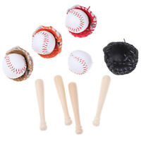 3pcs/set 1/6 Dollhouse Miniature Baseball Set Accessories Model T kl