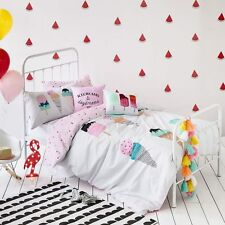 ICE CREAM CREAMS & DAY DREAMS SINGLE bed QUILT DOONA DUVET COVER SET NEW