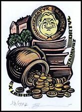 Leonenko Vasyl 1997 Exlibris X3 Numismatics Coins Munzen Architecture Sanok 851x