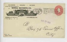 Mr Fancy Cancel Newell Mathers Co Farm Machinery etc Los Angeles Cal '99 #1907