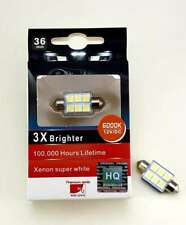 2Pcs Premium LED 36mm Festoon Car Bulbs CanBus WHITE 6000K fit INTERIOR UK SALE!