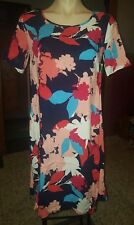 WOMENS Sz 6 blue pink white & red TARGET floral dress LOVELY!